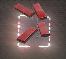 4pcs Red Self Adhesive Car Truck Night Safety Reflective Warning Plate Stickers