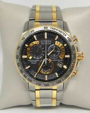 CITIZEN PERPETUAL CALENDAR TWO TONE STAINLESS 42MM MEN'S WATCH AT4004-52E $625