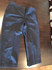 Talbot's Women's Blue/White Pinstripe Pants Size 10