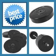 BLACK 25KG A-GRADE CLUB Series Olympic  Size  RUBBER BUMPER  GYM WEIGHT PLATE