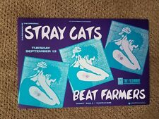 STRAY CATS FILLMORE POSTER BEAT FARMERS Bill Graham ORIGINAL F48 Owseichik 1988
