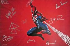 SDCC Exclusive LE of 90 Play Station 4 Spider- Man Poster Autographed By Nine