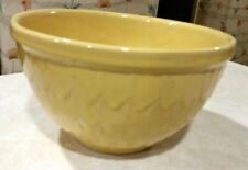 Vintage McCoy Yellow Fish Scales Mixing Bowl