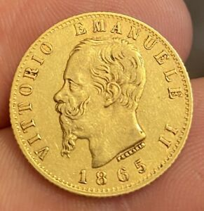 ITALIE 20 Lire Victor Emmanuel II 1865 Turin