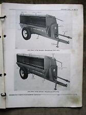 John Deere 76 79 Flail Manure Spreader Parts Catalog Manual ORIGINAL