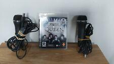 SingStar: Queen (Sony Playstation 3, PS3, 2009) + paquete de micrófono 2x USB