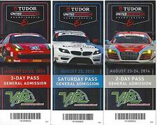 2014 IMSA TUDOR VIR Virginia Intenational Raceway Collectible Tickets