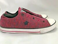 Womens Converse One Star Slip On Laceless Pink/ Black Patterned Shoes SZ 8