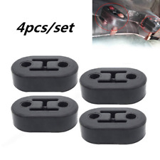 4PCS 11mm Car Black Rubber Mount Brackets Hanger Insulator For Exhaust Tail Pipe