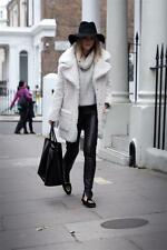 TOPSHOP CREAM FAUX FUR TEDDY OVERSIZED COAT - UK4/EUR32/US0 BLOGGERS