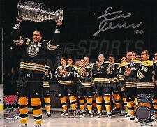 Zdeno Chara Boston Bruins Signed Raising Stanley Cup Banner Night 8x10