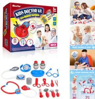 18Pcs Kids Doctor Set Mini Medical Box Doctors Kit Doctor Playset for Children