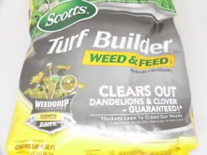 Scotts Turf Builder Weed & Feed³ Clears out Dandelions & Clover, 5,000 sq. ft.