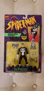 Spiderman Animated Series Action Figure - Punisher  Original packaging!  Sealed