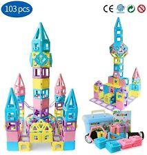 Magnetic Building Blocks STEM Educational Toys Tiles Set for Boys & Girls 103PCS