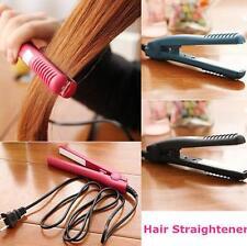 Black 15W Professional Hair Straightener Ceramic Tourmaline Plate Iron Practical