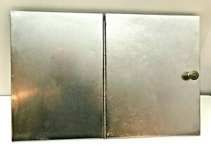 TWO PART FREEZER CABINET FLIP OVER LID – STAINLESS STEEL TOP WITH A BRASS KNOB