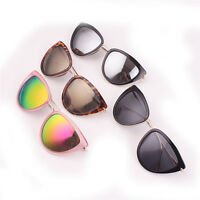 Mirrored Lenses Lady Polarized Sunglasses reflective Designer Cat Eye Vintage