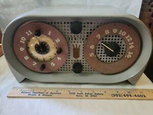 Vintage 1950 Owl Eye Zenith  5G03 G516 Y Black Radio Working Orig Owner's Manual