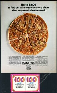 1970 Pizza Hut pizza photo vintage print ad 2