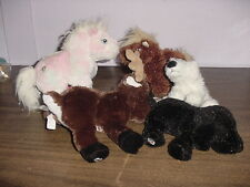 5 Webkins/Lil'Kins Plush Animals + Small Stack of Series 2 Cards & Unused Codes