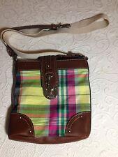 NWOT - Chaps Madras Plaid Cross body Messenger Handbag/Purse