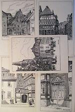 Hameln , Otto Ubbelohde ,12er Serie um 1910 ,alte Ansichtskarte,nicht  gelaufen