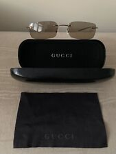 GUCCI LADIES SUNGLASSES brown Lens Gold Frame With Black Box