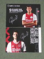 2x HOLLAND Klaas Jan Huntelaar (Ajax) Schalke 04 Real Milan Real OHNE UNTERSCHR.