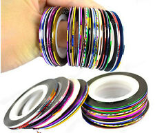 30pcs Mixed Colors Pretty Roll Striping Tape Line Nail Art Sticker Decoration