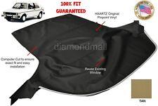 VW Volkswagen Rabbit Cabriolet GOLF 1980-1994 Convertible Soft Top Tan Vinyl