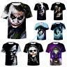 Batman Dark Knight Joker DC Comics T-Shirt Men's Casual Tee Tops Shirt Halloween