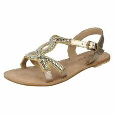 Textured Leather Sandals & Flip Flops for Women