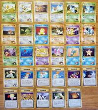 Set of 29 Unique Japanese Gym Challenge/Heroes Set Pokemon Cards (ジム拡張第 1/2) LP