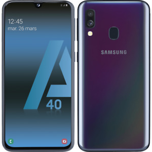 Samsung Galaxy A40 A405F/DS Double SIM 64 Go RAM 4 Go Téléphone Débloqué Noir