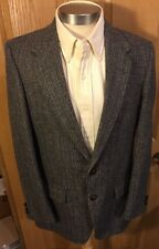 Farah Speckle Tweed 40L Gray Brown Coat Jacket Blazer Wool 2 Button