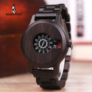 BOBO BIRD Men Wooden Watch Luxury Brand Quartz Wristwatches with Unique Design