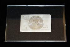 Pre-Owned .999 Silver 2016 1oz Dollar in 4oz Bullion Bar