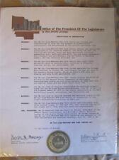 1988 MG Car Club-Western NEW YORK Centre Day Monroe Cty Legislature Certificate