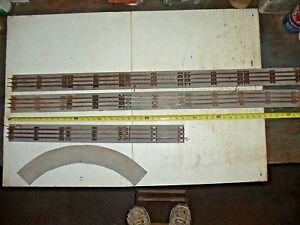 Old Vintage Lionel O Gauge 3 Rail Track Lot 13 Straights on wooden Base