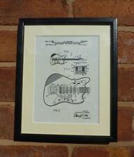 USA Patent Drawing FENDER STRATOCASTER GUITAR pickup MOUNTED PRINT 1966 Gift