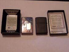 2 Zippo Lot 2012 Chien Étiquettes & Noir 2014