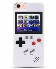 Colored Playable gameboy case. Black Iphone X. old retro games