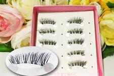 Makeup Half Mini Length Cross False Eyelashes Nature Black Soft Fake Eye Lashes