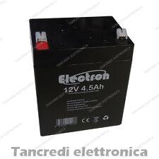 Batteria Ermetica ricaricabile al Piombo 12V 4,5Ah 5Ah con connettore Faston 4,8