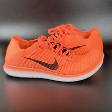 Nike Free Rn Flyknit Bright Mango Men's Size 8.5 831069-801 Running Shoes