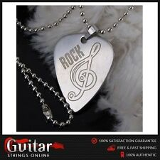 Guitar Pick Music Note Necklace Chain Metal Guitar Pick Plectrum Bass Gifts