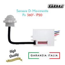 rilevatore mini-sensore di movimento crepuscolare da incasso led 96006