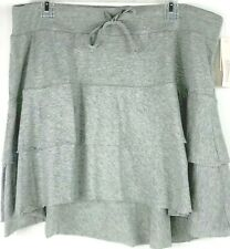MOTHERHOOD MATERNITY GRAY HI-LOW Tiered SKIRT SIZE LARGE NEW WITH TAGS
