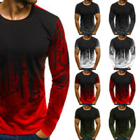 Trendy Men's Slim Fit O Neck Short Sleeve Muscle Tee T-shirt Casual Tops Blouse